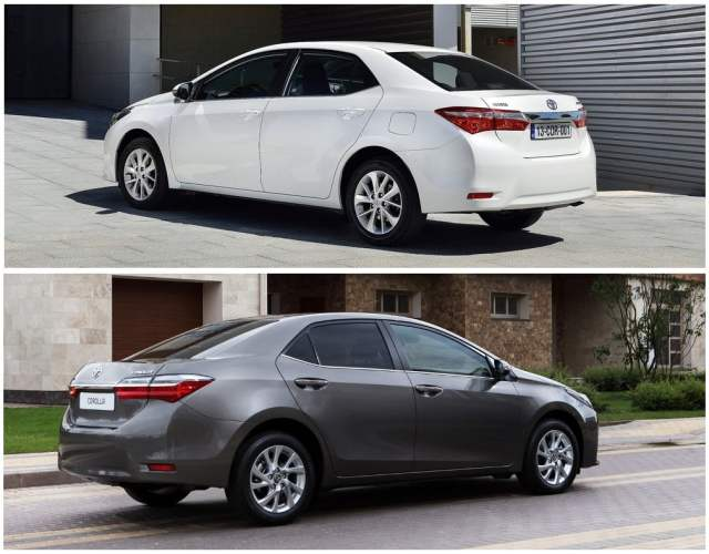 toyota corolla altis old vs new front angle rear angle