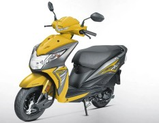 2017 honda dio images yellow colour