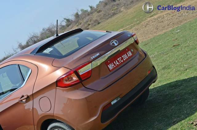 tata tigor test drive review images rear