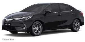 new toyota corolla altis 2017 colours celestial black