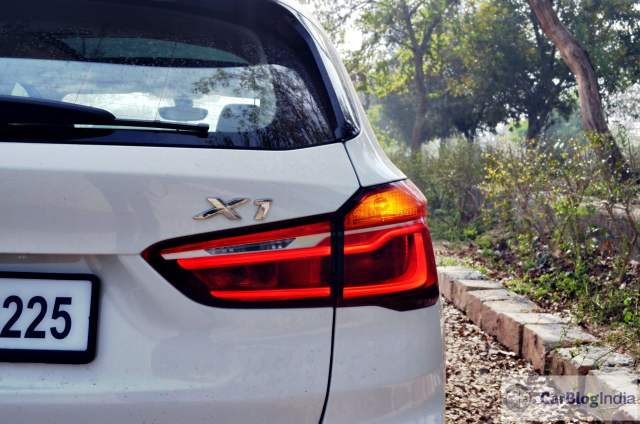 bmw x1 review india images rear taillight