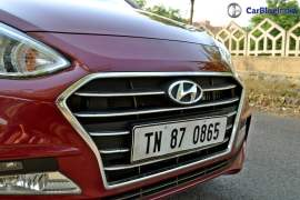 2017 hyundai xcent facelift test drive review grille