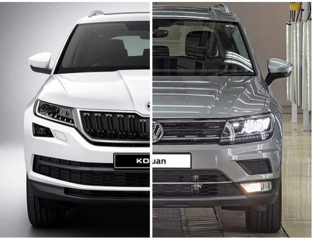 skoda kodiaq vs volkswagen tiguan comparison