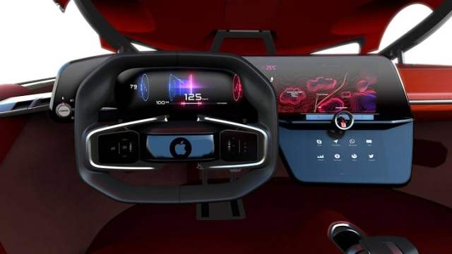 This is what the interior of the Apple car may look like