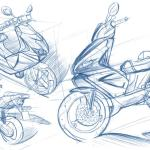 Xenophya Scooter Sketch Car Body Design