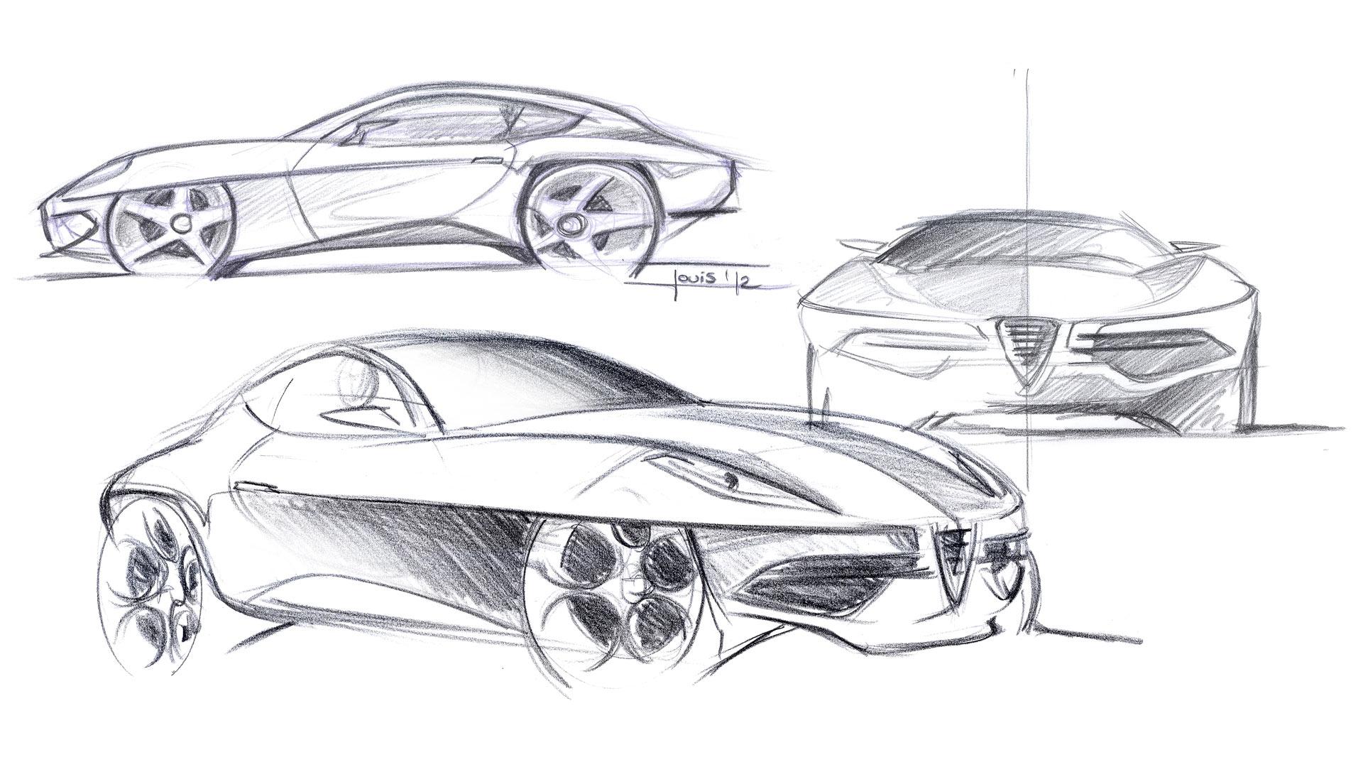 Disco Volante Concept Design Sketches