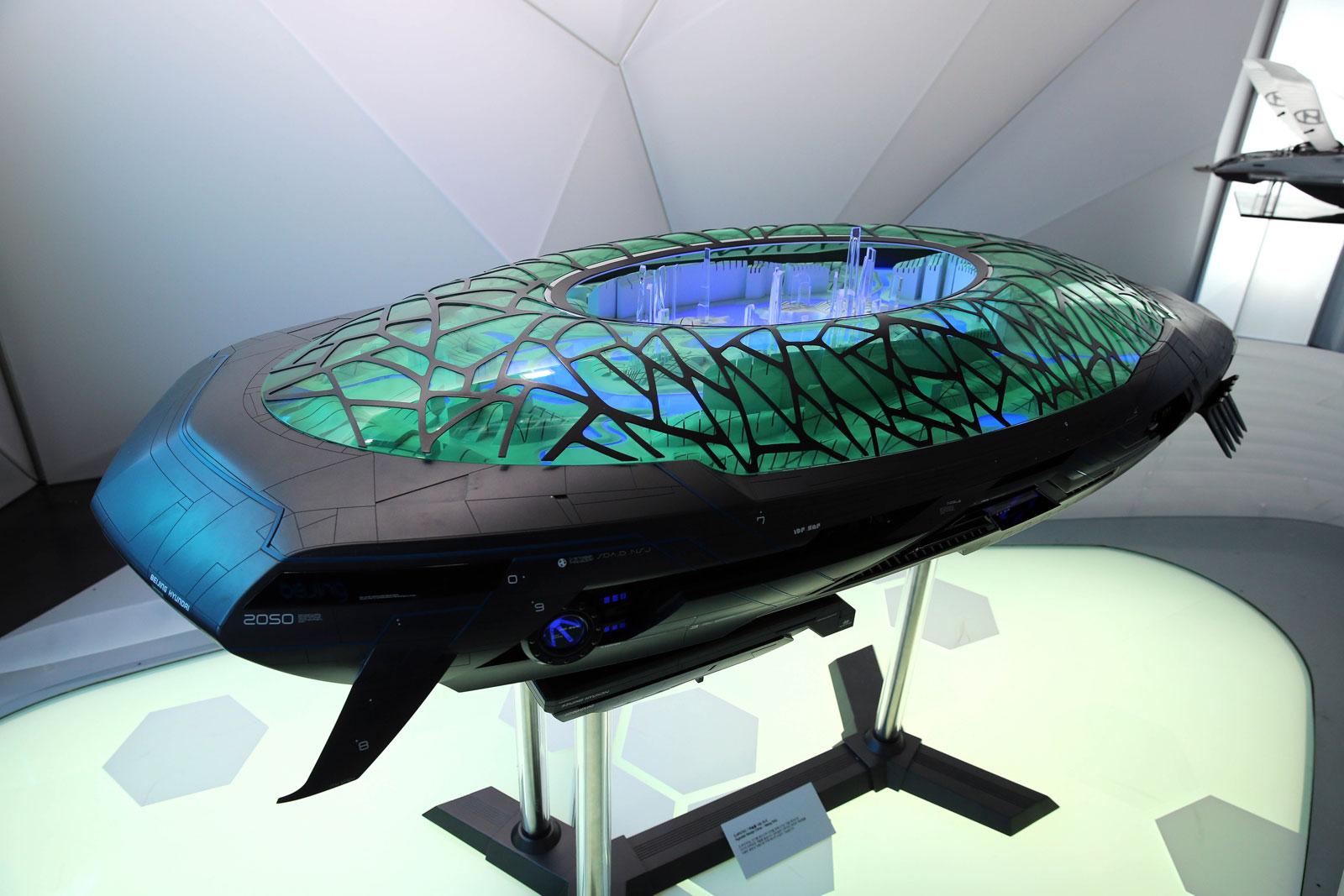Hyundai Laputa Flying City For The Year Car Body Design