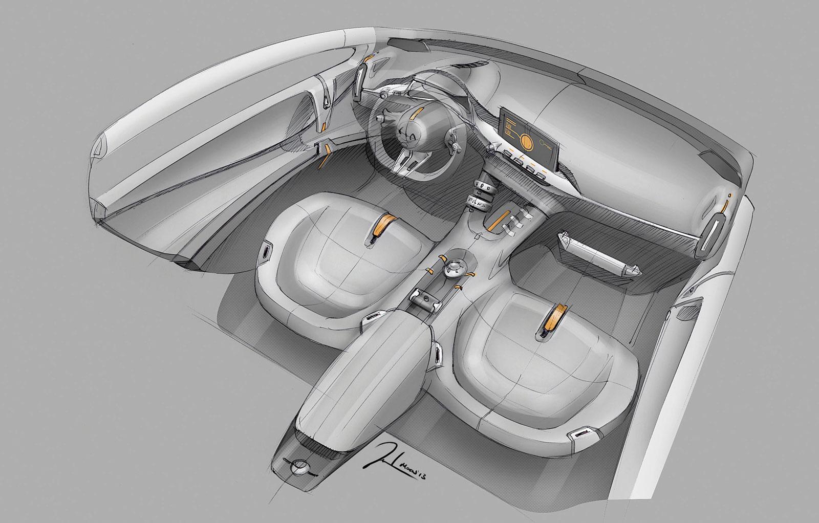 Kia Niro Concept Interior Design Sketch Car Body Design