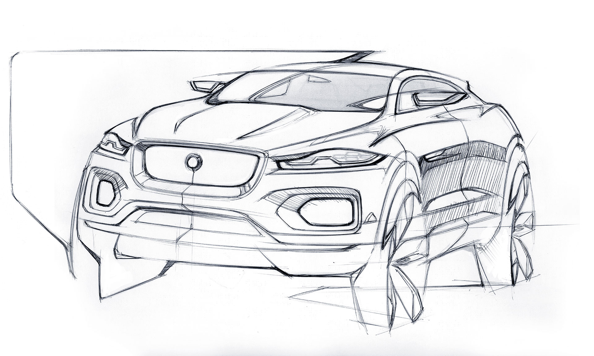 Jaguar C X17 Concept Design Sketch