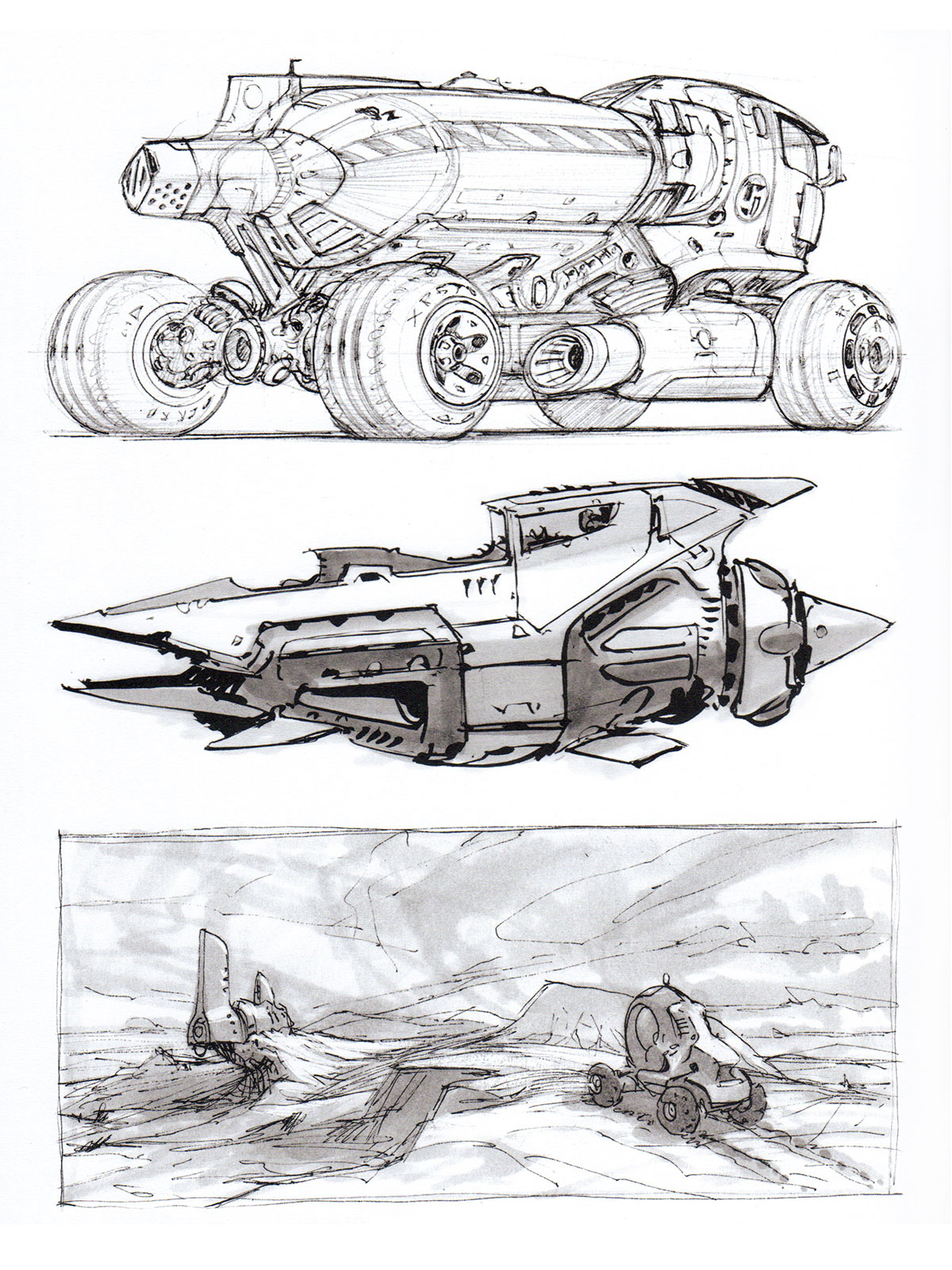 Misc Sketches By Scott Robertson