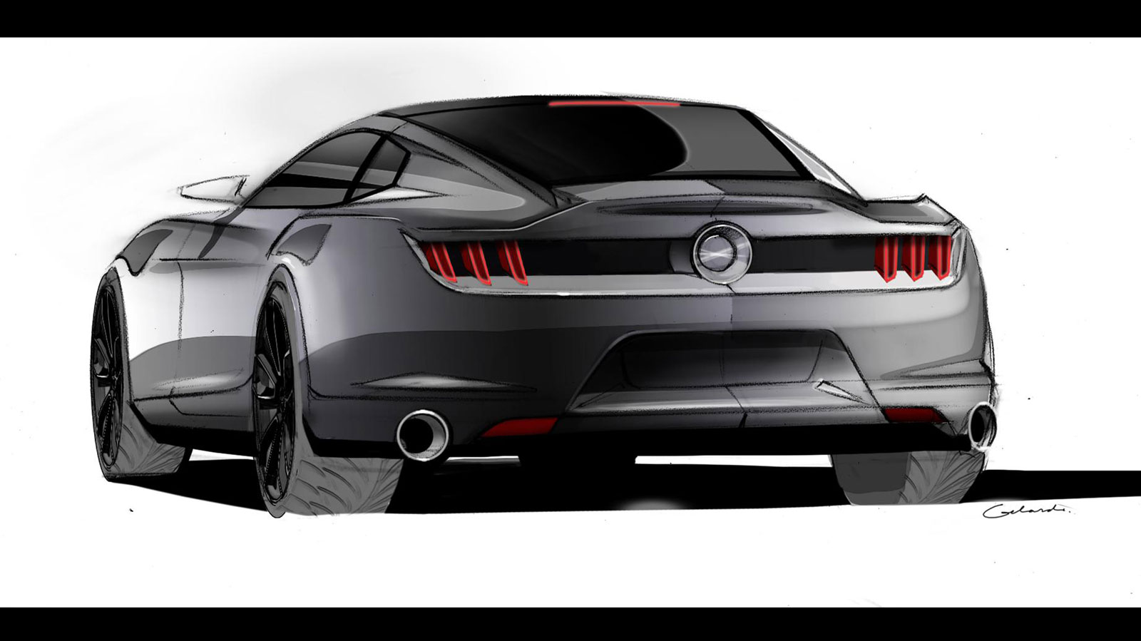 2015 Ford Mustang Ideation Design Sketch Car Body Design