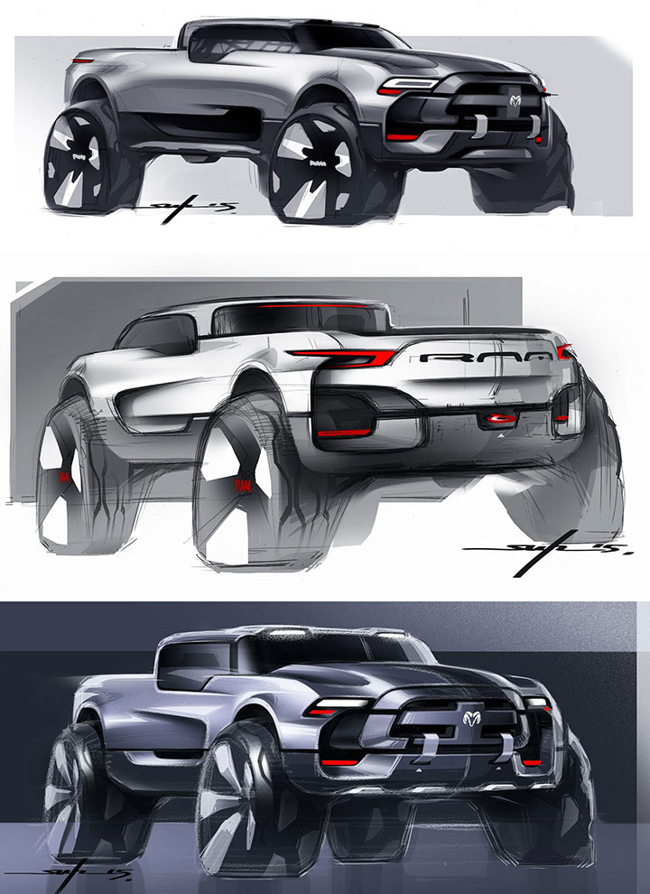 Dodge RAM Concept Design Sketches By Young Joon Suh Car