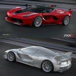 Ferrari Fxx K Initial Modified Laferrari Digital 3d Model And Final Design Car Body Design