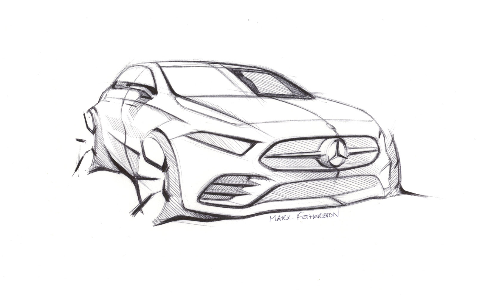 Mercedes Benz New A Class Design Sketch Car Body Design