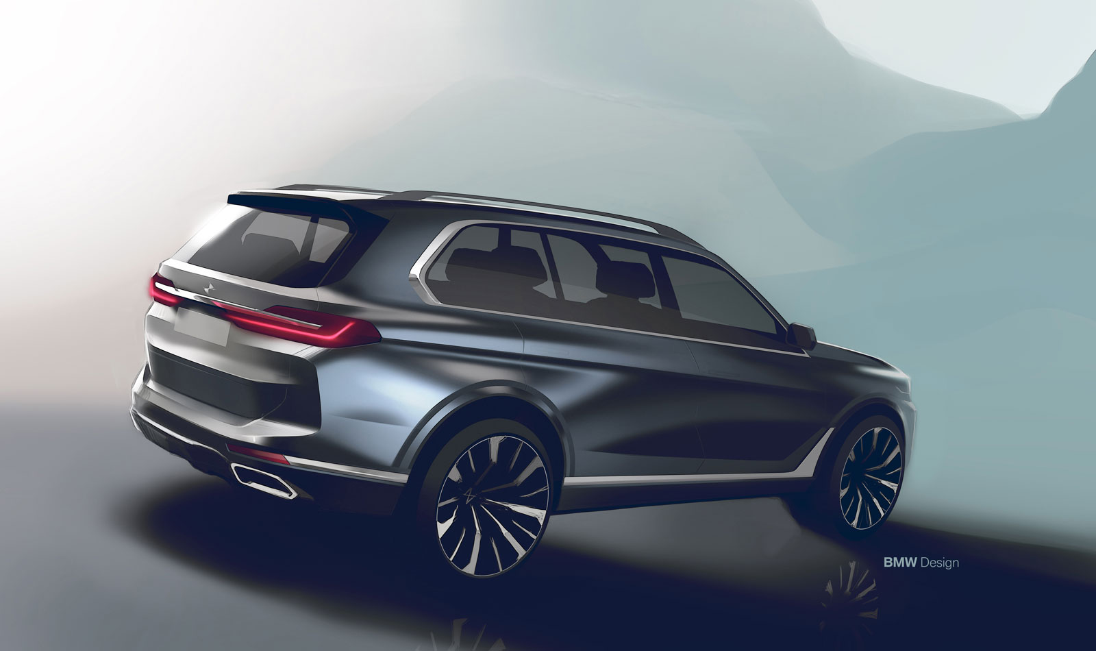Bmw X7 Design Sketch Render Car Body Design