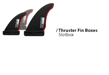 thruster waveboard fin set up