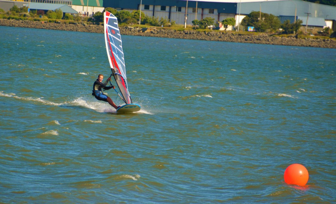 dan meehan sailing at new zealand slalom nationals 2017