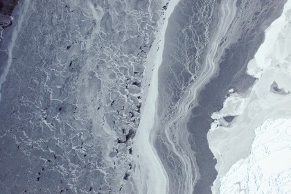 Aerial view of the West Antarctic Ice Sheet