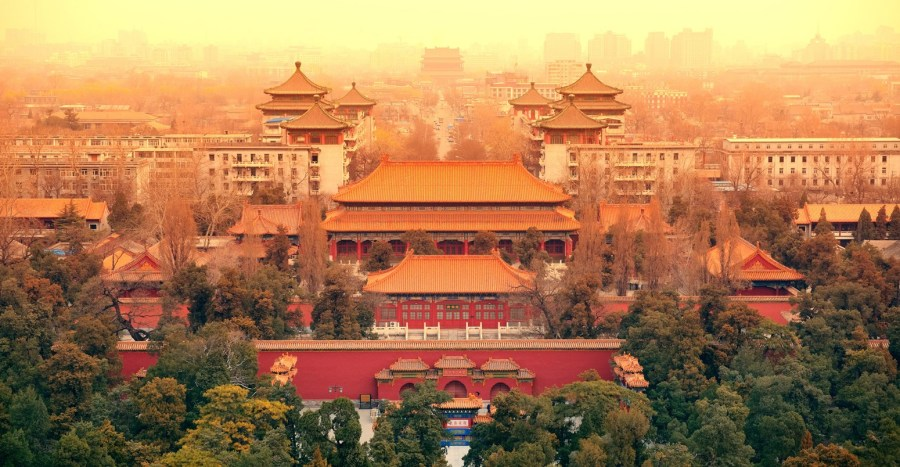 Guest post  A closer look at China s stalled carbon emissions     Aerial view of Beijing with historical architecture  China  Credit   rabbit75 ist iStock Getty Images Plus