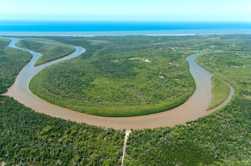 Rufiji River estuary, Lindi Region, Tanzania. Credit: Ulrich Doering / Alamy Stock Photo. CNW7NE