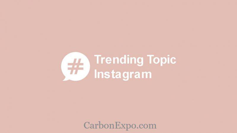 melihat trending instagram