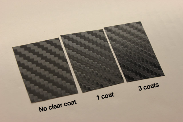 Differences in the number of layers of clear coat