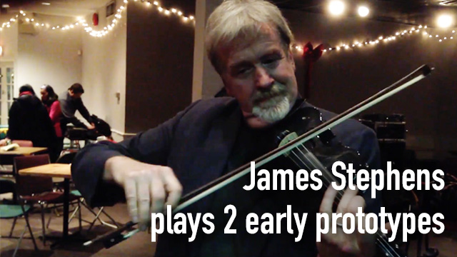 James Stephens plays 2 early pre-production prototypes