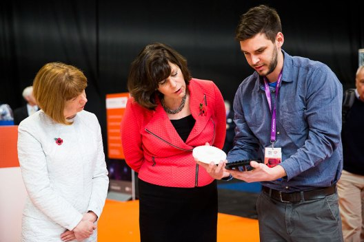 Innovate2017_Ruth_McKernan_Minister_Claire_Perry_Tamas_Pal_Entropea_Labs
