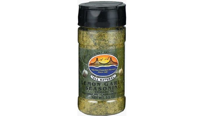 Carl's Gourmet All Natural Lemon Garlic Seasoning and Meat Rubs 4 oz.