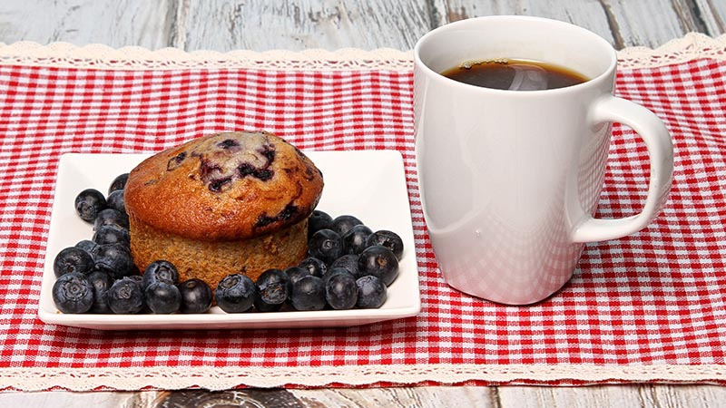 Low-Carb Lemon Blueberry Surprise Muffins