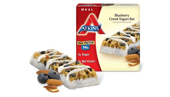 Atkins Advantage Meal Bars Blueberry Greek Yogurt (Box of 5 Bars)