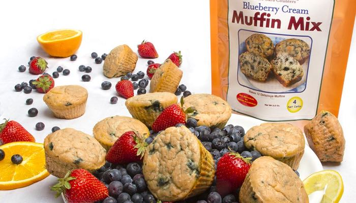 Blueberry Cream Low Carb Muffin Mix by Dixie Carb Counters