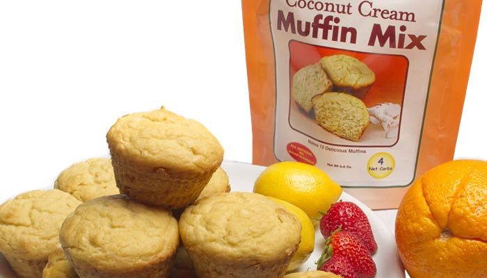 Coconut Cream Low Carb Muffin Mix by Dixie Carb Counters