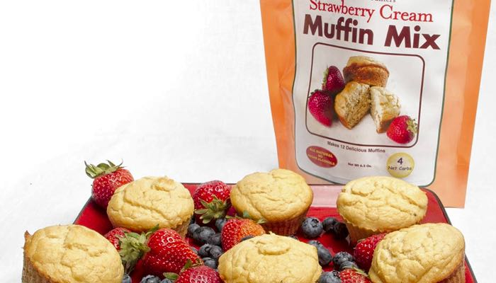 Strawberry Cream Low Carb Muffin Mix by Dixie Carb Counters