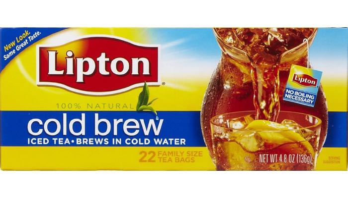 Lipton Cold Brew Iced Tea Bags 22 Pitcher-Size (makes 1/2 gallon per tea bag)