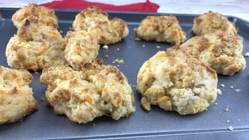Low Carb Cheddar Cheese Biscuits Recipe with CarbQuik