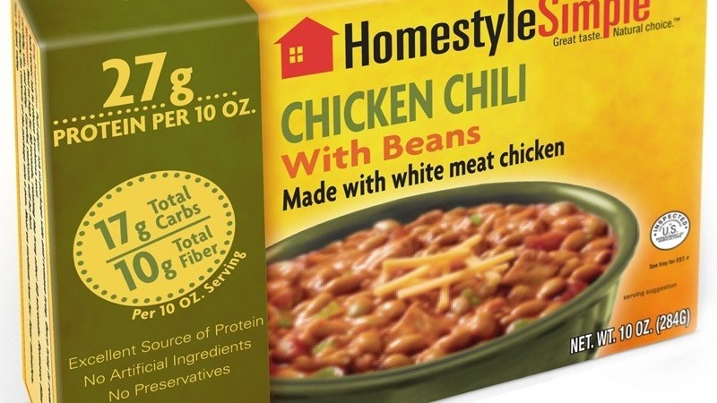 Microwavable Chicken Chili with Beans