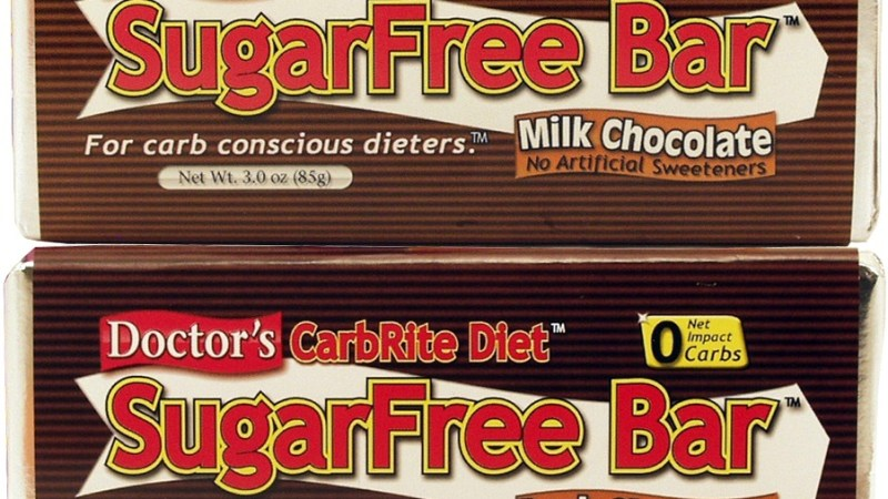 Doctor's CarbRite SugarFree Chocolate Bars – discontinued by manufacturer
