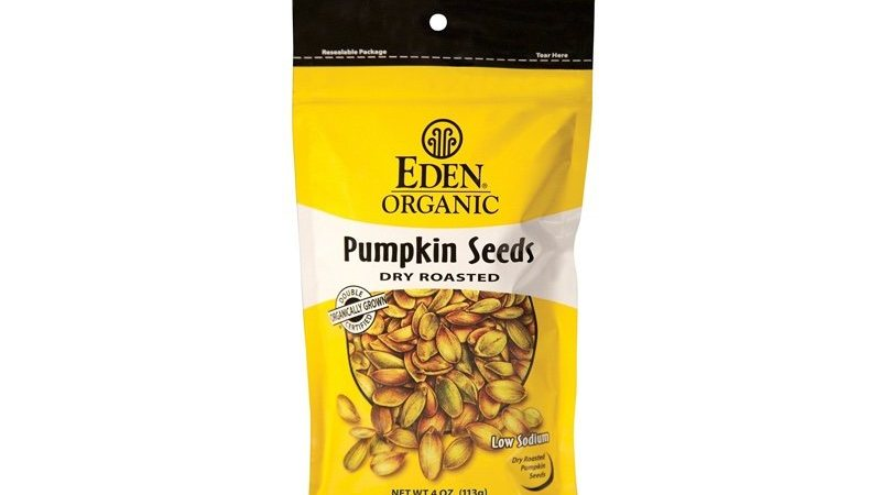 Eden Organic Dry Roasted Pumpkin Seeds, 4 oz. bag