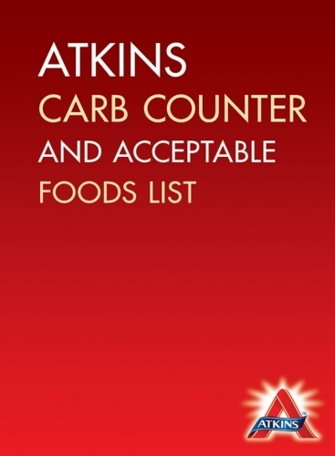 graphic regarding Printable Carb Counter named Atkins Carb Counter Fair Meals Listing Cost-free Down load