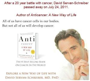 Dr. David Servan-Screiber, author of Anticancer