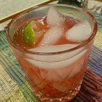 Virgin Shark's Fin uses homemade Low Carb Cranberry Juice, lime and sparkling water