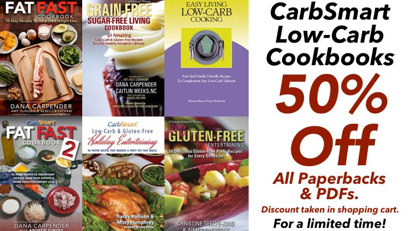 2017 CarbSmart Cookbook 50% Off Sale