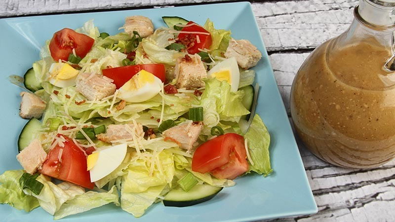 Low-Carb Gluten-Free Chicken Caesar Salad Recipe