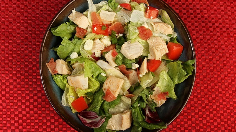 Low-Carb Lemon Garlic Chicken Main Dish Salad Recipe
