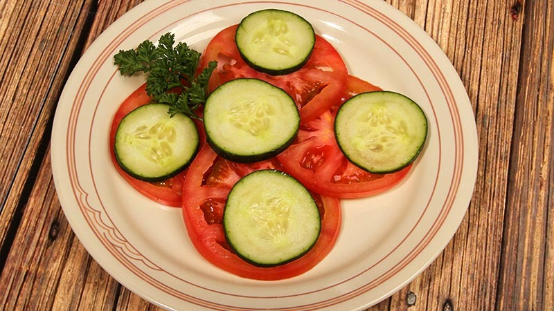 Low-Carb Gluten-Free Dijon-Garlic Tomato and Cucumber Recipe
