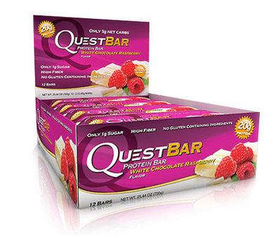 White Chocolate Raspberry Low Carb Gluten Free 2.12 oz. Protein Bar by Quest Nutrition