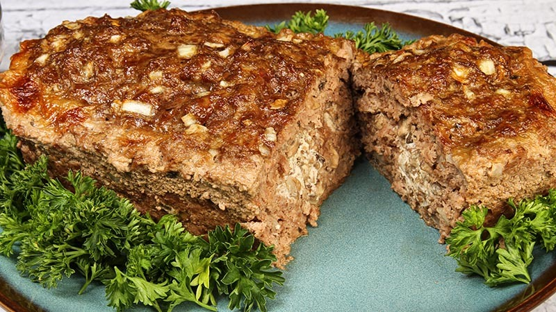 Low-Carb Stroganoff Meatloaf Recipe
