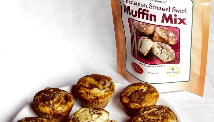 Cinnamon Streusel Low Carb Muffin Mix by Dixie Carb Counters
