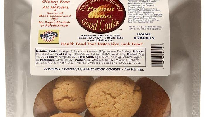 Dixie Carb Counters Peanut Butter Good Cookies